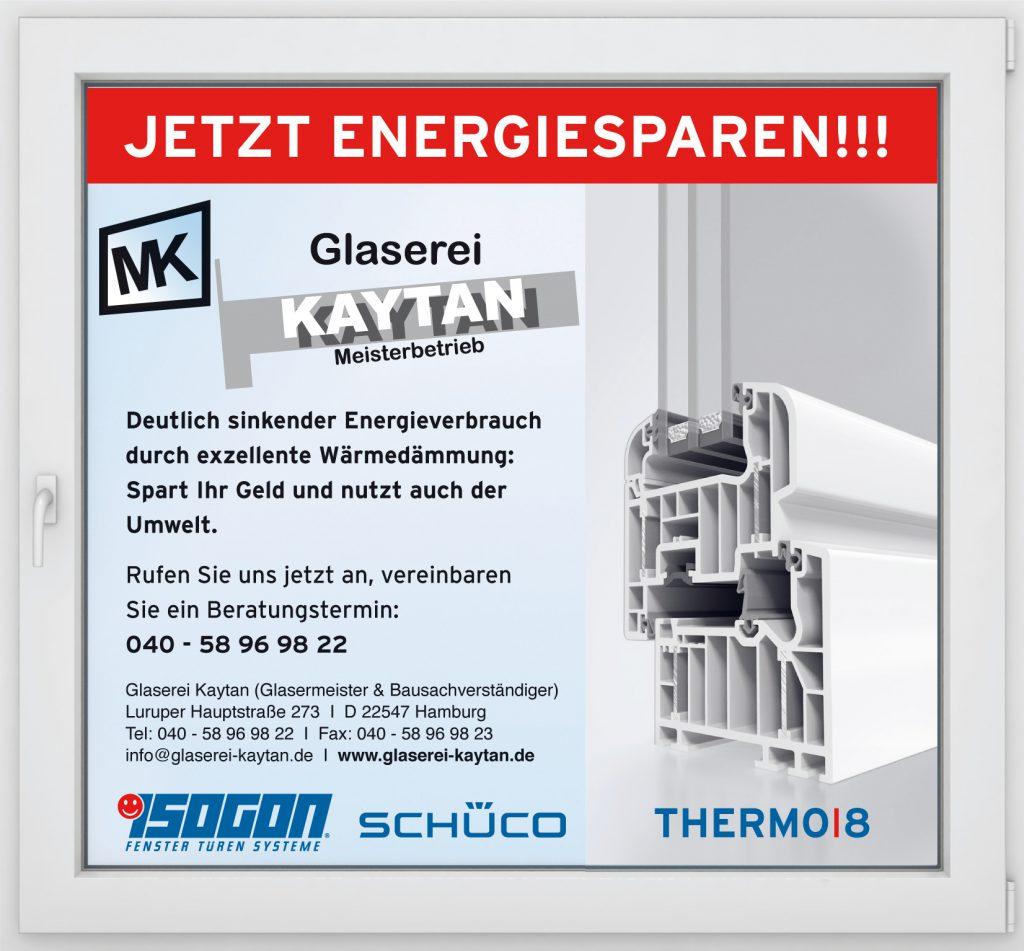Glaserei Hamburg - Energiesparen